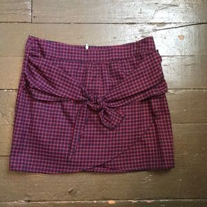 Tobi Plaid Mini Skirt